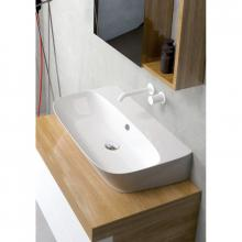 Wall-hung/countertop wash basin cm 90 Prua