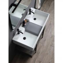 Countertop doublebasin cm 100x50 Nobu