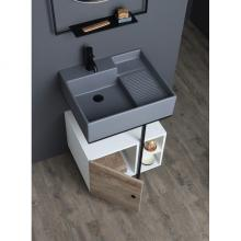 Washbasin structure with door and shelfs cm 60x50xH70 Quadrello
