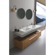 Recessed washbasin double basin 121x51x h 16,8 cm Soft