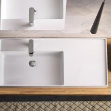 Click-clack drain and ceramic cover