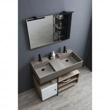 Washbasin structure with door and shelfs cm 100x50xH70 Quadrello