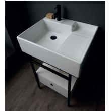Washbasin structure with drawer cm 60x50xH70 Quadrello