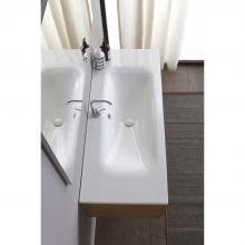 Recessed washbasin 121x51x h 16,8 cm Soft