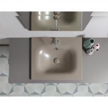 Recessed washbasin 61x46x h 16,8 cm Soft