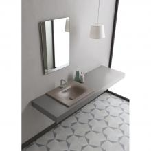 Recessed washbasin 61x51x h 16,8 cm Soft