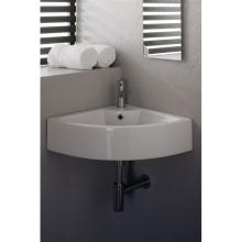 Angle countertop or wall-hung washbasin Square