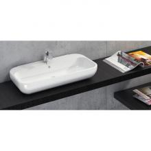 Washbasin Back to wall/Countertop cm 80x40 Qubo