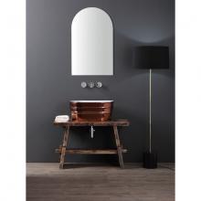 Oval Countertop/Wall-hung Washbasin Teinozza Glossy Copper