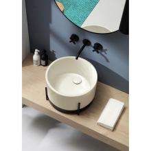 Washbasin with structure Ibrido Round Franciacorta