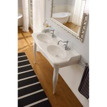 Countertop or wall-hung double washbasin Castellana