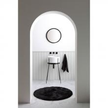 Washbasin with structure Ibrido Round White