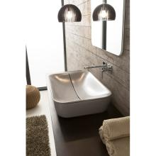 Rectangulare countertop washbasin Mizu