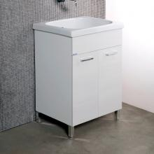 White laundry unit + ceramic Corallo