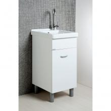 Laundry cabinet Oceano 45x50 with ceramic sink and wood  table
