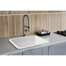 Semi-countertop/built-in Kitchen sink Barrel