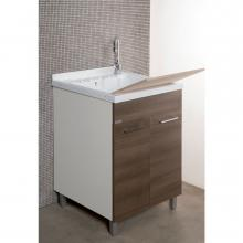 Laundry unit with ABS bathtub and two doors cm 55x45xH89 Medusa