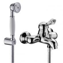 External bathtub mixer with shower kit Diamante