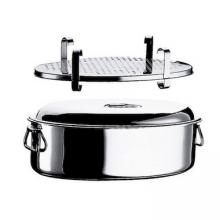 Oval Saucepan with Lid and Grill