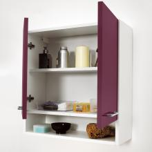 Laundry wall unit with two doors and shelf 75x24x70 Jolly