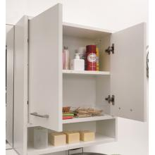 Laundry wall unit with two doors and shelf 80x24x70 Jolly