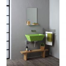 Rectangular Countertop/Wall-hung Washbasin Pietra Glossy Pulse Green