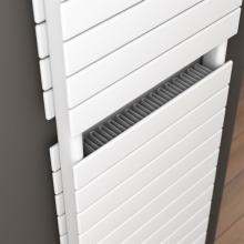 Double radiator towel rail warmer with convector L500 mm Plain