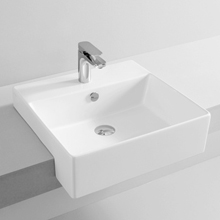 Semi-recessed Washbasin Quadro 50x48