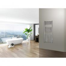 Chrome radiator towel rail warmer H770 mm Zeta X Straight