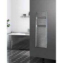 Chrome radiator towel rail warmer H1200 mm Zeta T Straight