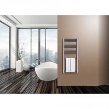 Chrome/white radiator towel rail warmer H1200 mm Zeta Combi