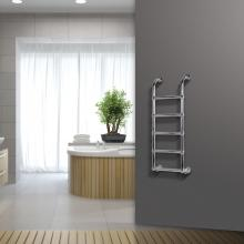 Chrome radiator towel rail warmer L500 mm Boston