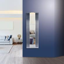 Hydraulic white radiator towel rail warmer with mirror H1800x600 mm Tubon Espejo