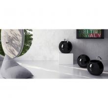 Back To wall Wc with chromed vertical drain Sfera