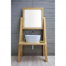 Wooden washbasin cabinet cm 100x204 Camerino