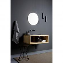Wall-hung washbasin cabinet cm 90x32 Cornice