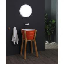 High wooden washbasin cabinet Bacile