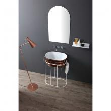 High iron washbasin cabinet Tinozza