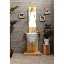 Wooden cabinet for Bacile wash basin Pozzo