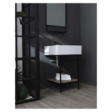 Washbasin structure with shelf Quadrello