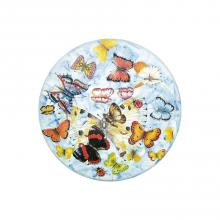 Round lava stone tabletop Butterfly