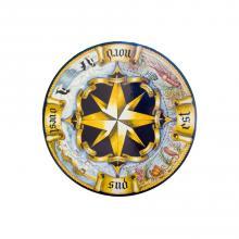 Round lava stone tabletop Rosa dei Venti Antico