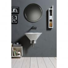 Oval Countertop/Wall-hung Washbasin Terra White