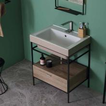 Countertop / wall-hung ceramic washbasin 70x50 Trix