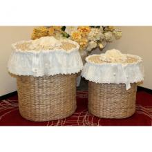 Set 2 Oval Laundry Baskets
