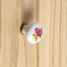 Round Knob White Bronze finish cm 31