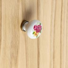 Small Round Knob White Bronze finish cm 27