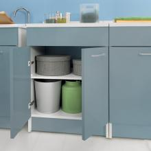 Laundry cabinet with two doors 60x60