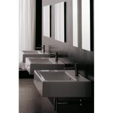 Countertop or wall-hung washbasin Square