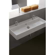 Wall-hung/countertop Washbasin with two holes Teorema